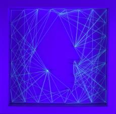 Constelaciones X. 2017 Técnica mixta 23 x 23 cm.